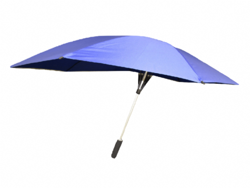 Blue Wind Resistant Umbrella with Fibreglass Poles - Windproof Automatic Storm